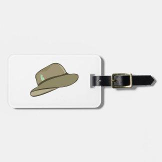 Gorra de Fedora Etiqueta Para Maleta