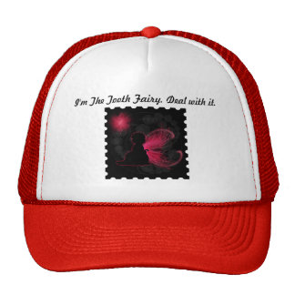 Gorra de hadas de alas rojas del camionero
