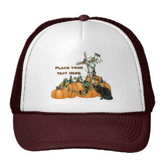 Gorra de Halloween del gatito del remiendo de la c
