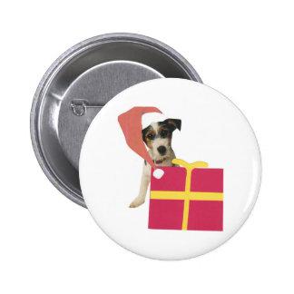 Gorra de Jack Russell Terrier Santa Pins