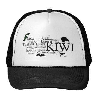 Gorra de Kiwiana - animales icónicos de Nueva Zela