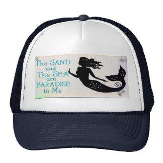 gorra de la arena y de la sirena del mar