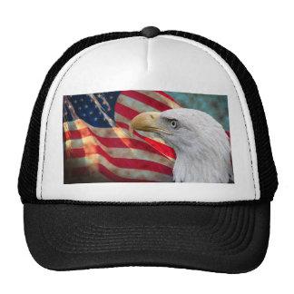 Gorra de la bandera americana con Eagle