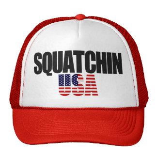 Gorra de la bandera americana de SQUATCHIN LOS E.E