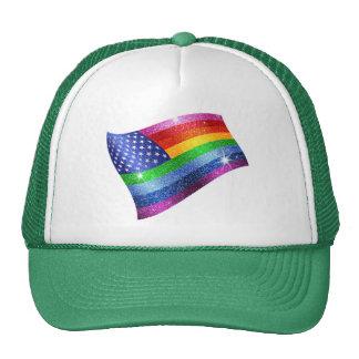 Gorra de la bandera americana del brillo del arco