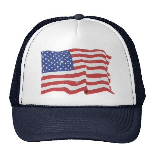 Gorra de la bandera americana del vintage