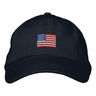 Gorra de la bandera americana gorros bordados