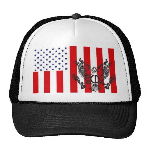 """Gorra de la """"bandera civil"""" de la defensa civil"""