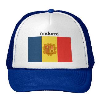 Gorra de la bandera de Andorra
