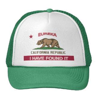 Gorra de la bandera de California