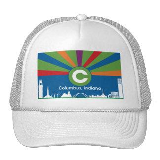 Gorra de la bandera de Columbus Indiana