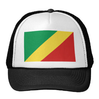 Gorra de la bandera de Congo-Brazzaville