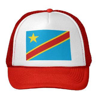 Gorra de la bandera de Congo-Kinshasa