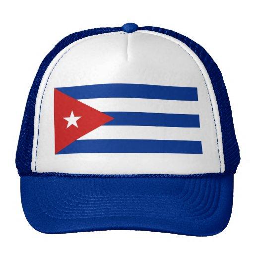 Gorra de la bandera de Cuba