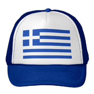 Gorra de la bandera de Grecia