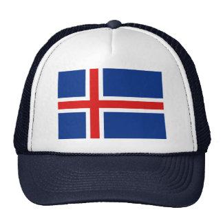 Gorra de la bandera de Islandia