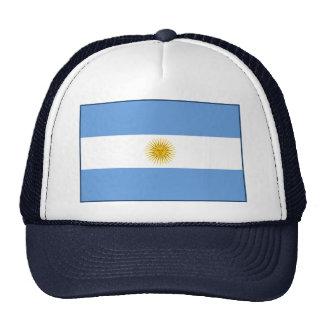 Gorra de la bandera de la Argentina