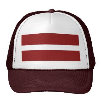 Gorra de la bandera de Letonia