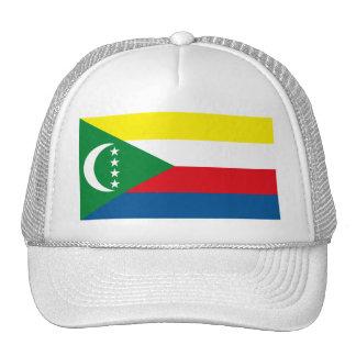 Gorra de la bandera de los Comoro