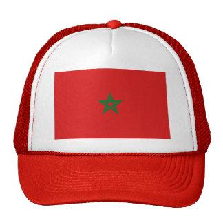 Gorra de la bandera de Marruecos