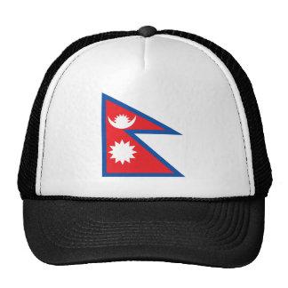 Gorra de la bandera de Nepal
