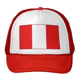 Gorra de la bandera de Perú