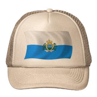 Gorra de la bandera de San Marino