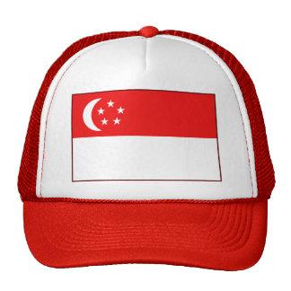 Gorra de la bandera de Singapur