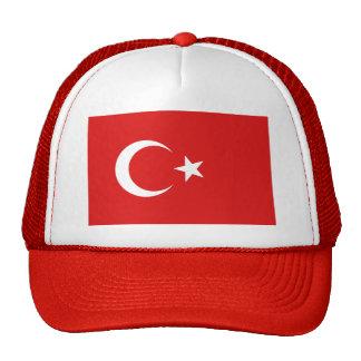 Gorra de la bandera de Turquía