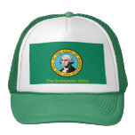 Gorra de la bandera de Washington