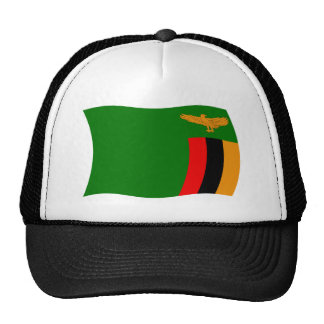 Gorra de la bandera de Zambia
