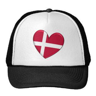 Gorra de la bandera del corazón de Dinamarca