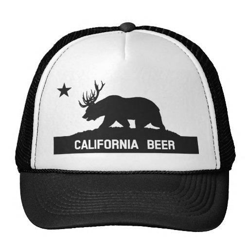 Gorra de la bandera del estado de la cerveza de Ca