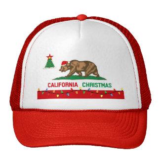 Gorra de la bandera del navidad de California