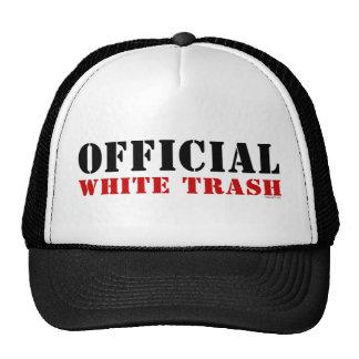 Gorra de la basura blanca