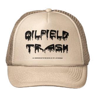 Gorra de la basura del campo petrolífero