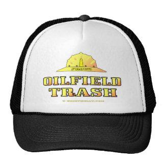 Gorra de la basura del campo petrolífero, oro negr