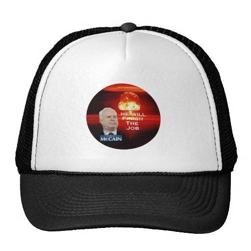 Gorra de la bomba atómica de McCain