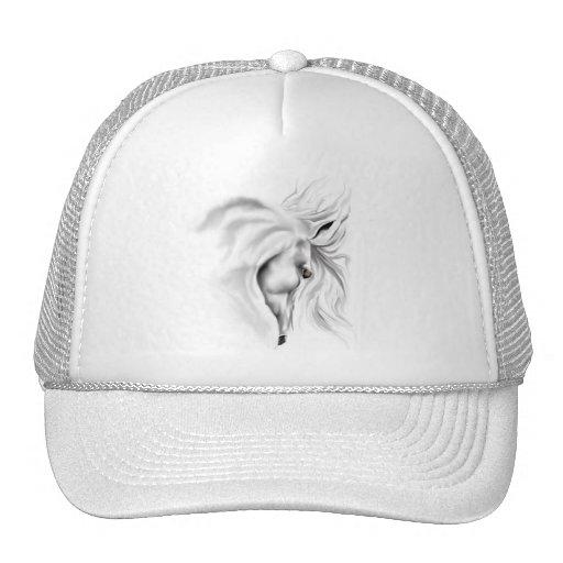 Gorra de la cabeza de caballo blanco