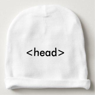 Gorra de la cabeza del friki del HTML del Gorrito Para Bebe