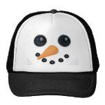 Gorra de la cara del muñeco de nieve