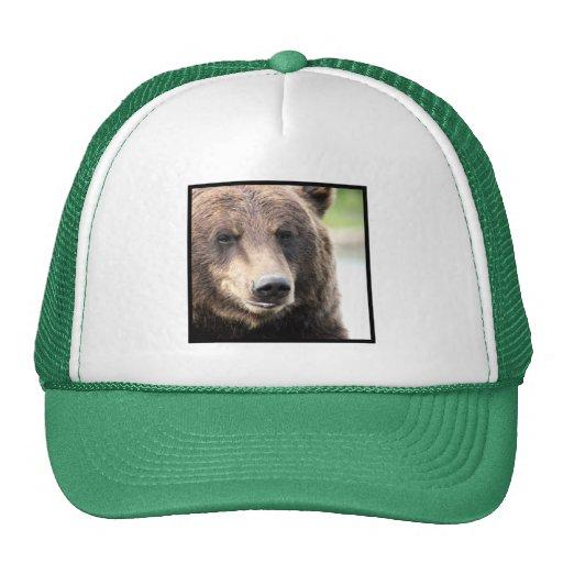 Gorra de la cara del oso de Brown