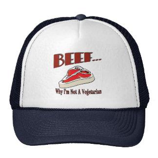Gorra de la carne de vaca