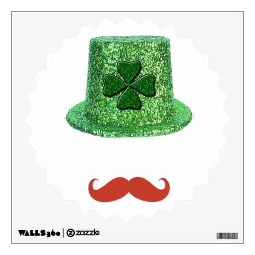 Gorra de la chispa del día de St Patrick y bigote
