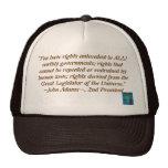 Gorra de la cita de John Adams
