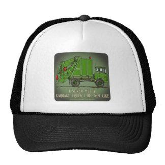 Gorra de la cita del operador del verde del camión