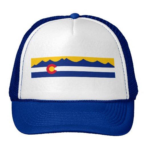 Gorra de la cordillera de la bandera de Colorado