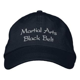 Gorra de la correa negra de los artes marciales gorro bordado