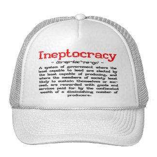 Gorra de la definición de Ineptocracy (blanco)