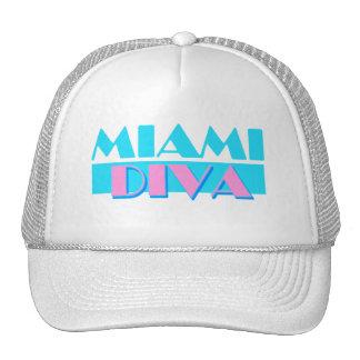 """Gorra de la diva de Miami"" Gorros Bordados"